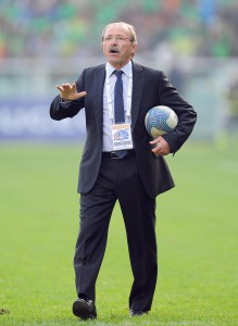 Il ct della nazionale italiana di rugby, Jacques Brunel