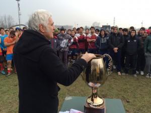 Il presidente del Crv Marzio Innocenti presenta il torneo ai  giocatori