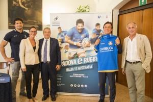 la conferenza stampa di presentazione del test match Italia Australia allo stadio Euganeo