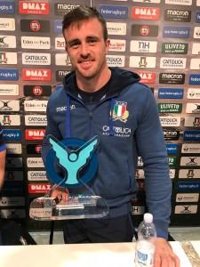 Braam Steyn nominato man of the Match a Firenze