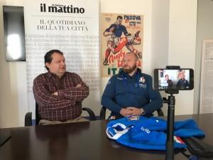 Intervista nella redazione del Mattino di Padova