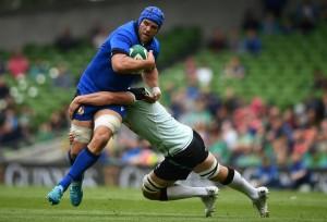 Dean Budd capitano in Irlanda-Italia (foto twitter Fir)