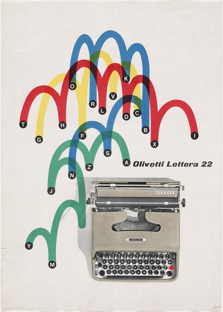 Olivetti, Lettera 22 - Giovanni Pintori - 1953