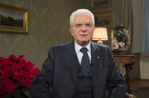 Il Presidente Sergio Mattarella in occasione del messaggio di fine anno.