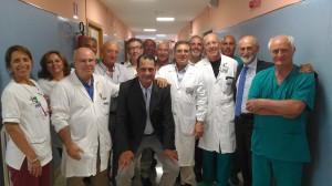 L'èquipe del reparto di Ginecologia dell'ospedale Cervello