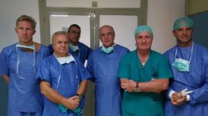L'équipe di Ortopedia pediatrica dell'ospedale Cervello di Palermo