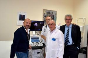 Il nuovo ecografo all'ospedale di Petralia
