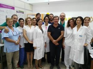 L'équipe di Medina II dell'ospedale Cervello a Palermo