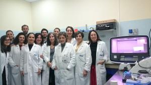 L'èquipe del laboratorio di Genetica molecolare dell'ospedale Cervello