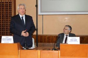 L'assessore Baldo Gucciardi e il rettore Fabrizio Micari