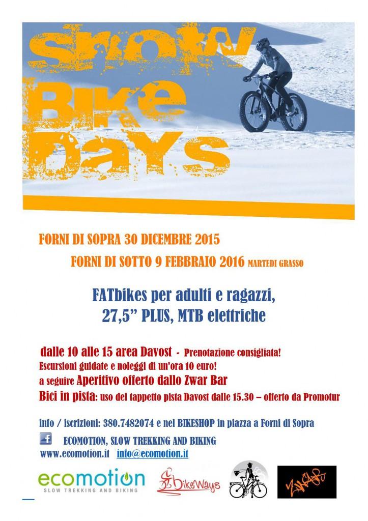 Snow Bike day - locandina