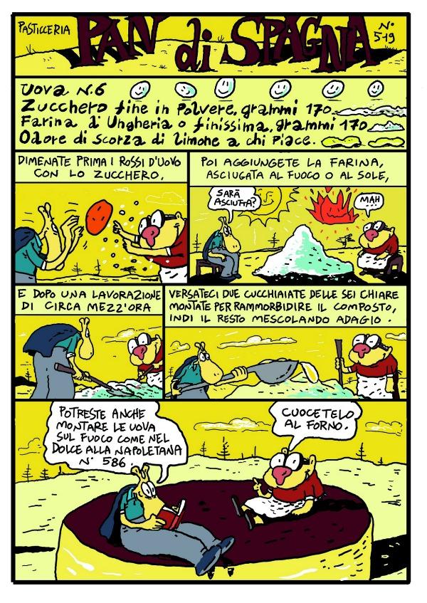 Una ricetta di Artusi fumettizzato da Alberto Rebori