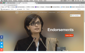 Candidata Pakistan Sania Nishtar