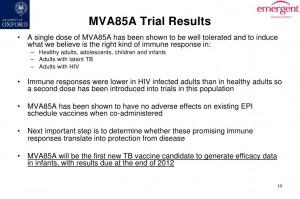 La slide del 2012 che promuoveva il vaccino anti-Tbc