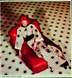 Un'immagine degli anni Settanta per la Biki Alta Moda Collection di Marazzi