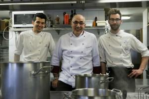 Nino Baggio e la brigata di cucina