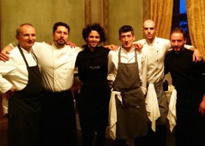 I cuochi autori della cena di gala dell'Alpe Adria
