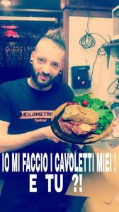 "Simone Trolese e il panino ""Kilometro 01"""