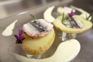 """Il piatto """"Semplicità""""  a base di sardine"""
