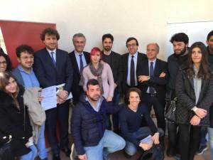 Andorno, Micari, Giambrone e Mazzola con gli studenti UniPa