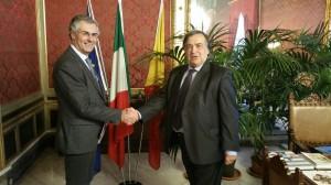 da sx il Rettore Fabrizio Micari e il Sindaco Leoluca Orlando