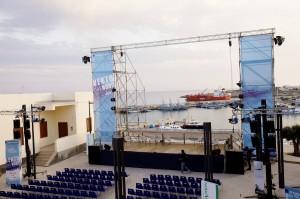 L'arena di Vento del Nord a Lampedusa