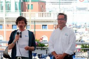 A sinistra Mario Croce e a destra il presidente della STV Marco Penso