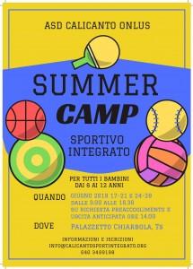 locandina Summer Camp 2019