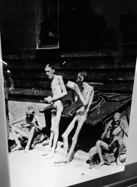 Fotografia scattata dagli Americani durante la liberazione del capo di Gusen