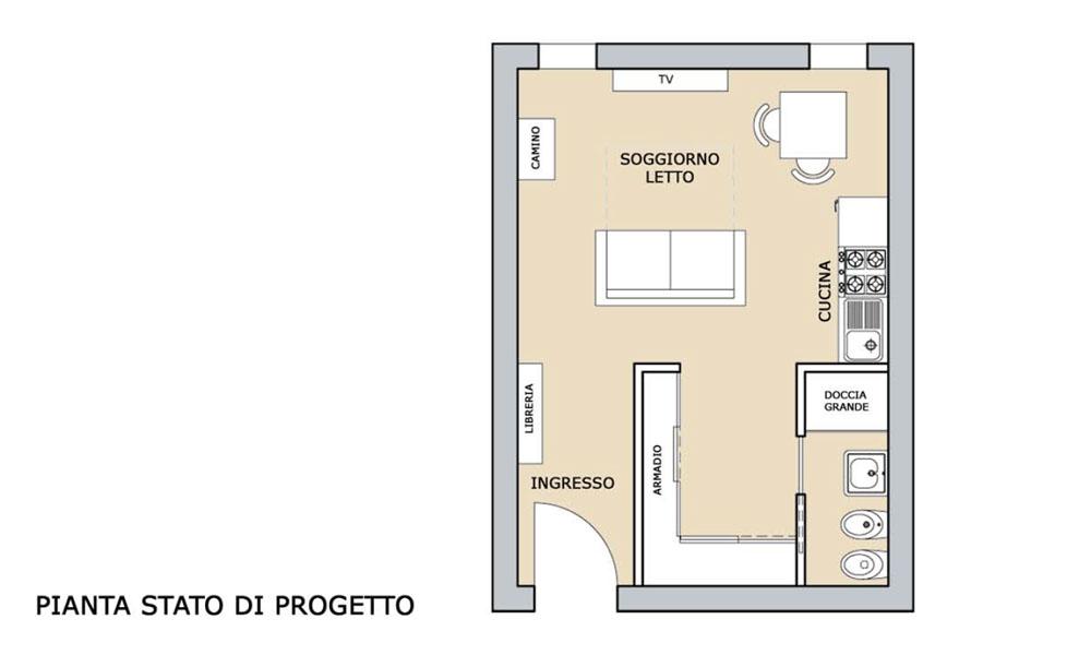 Ikea arredare monolocale 30 mq trattamento marmo cucina for Arredare mini appartamento ikea