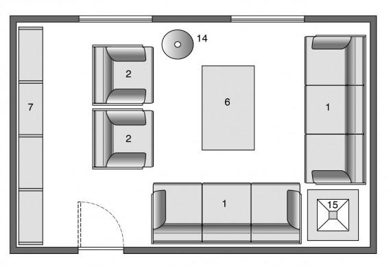 Living arredatelo cos casa design for Planimetria stanza