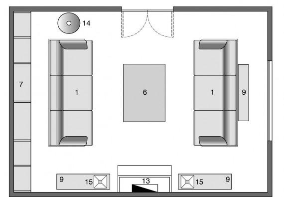 Living arredatelo cos casa design - Divano al centro della stanza ...