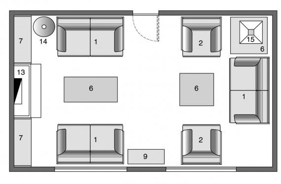 come arredare soggiorno rettangolare: arredare un salotto ... - Come Arredare Un Soggiorno Rettangolare