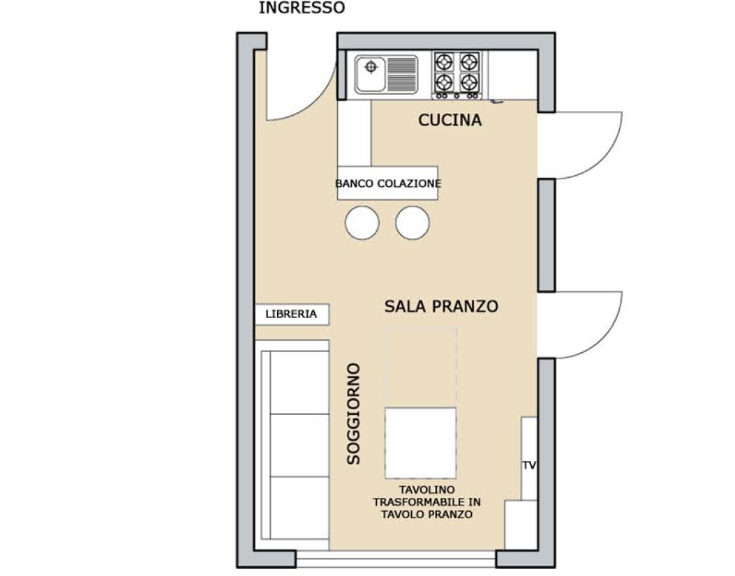 Sos arredo se la stanza stretta e lunga casa design for Progettare un salone