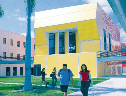 Spazi universitari di architettura in Florida ideati da Bernard Tschumi
