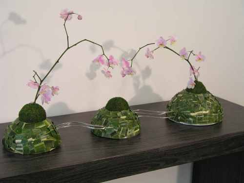 Trio di isolotti con orchidea