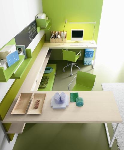 L angolo studio per ragazzi casa design - Angolo studio in camera da letto ...