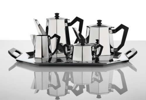 Servizio da the e caffè Ottagonale di Carlo Alessi del 1935, riproposto quest'anno al Macef