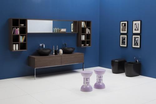 Un sistema componibile di contenitori realizzati in diverse forme e dimensioni. Da Ceramica Flaminia, Compono System