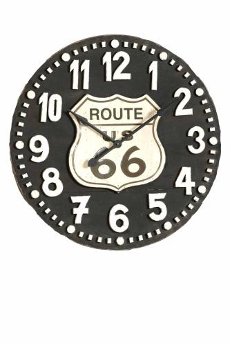 Cita il vintage americano l?orologio da parete di Dialma Brown ispirato <br>alla Route 66, tra le più famose strade degli Usa