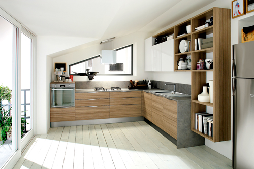 Da Veneta Cucine, soluzioni su misura per spazi irregolari