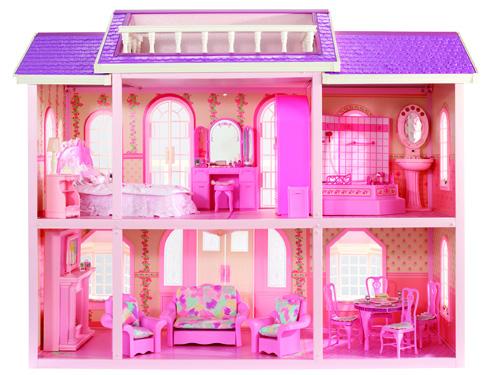 A casa di barbie casa design for Casa barbie fai da te legno
