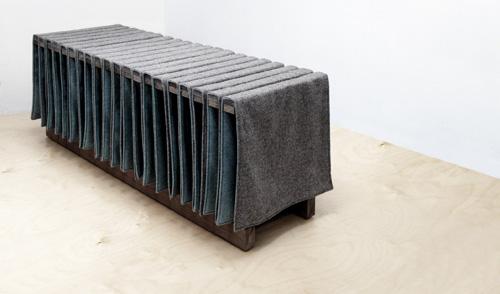 Panca di Héctor Esrawe per The Woolmark Company