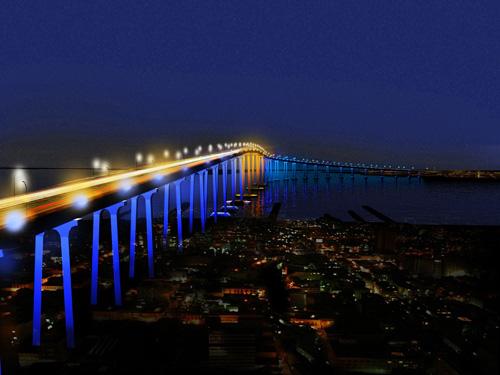 il Coronado Bay Bridge Lighting a San Diego, di Fink, Speirs Major e Buro Happold