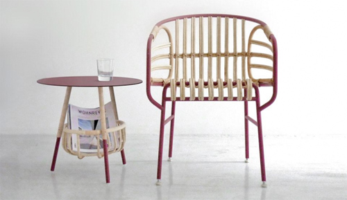 Per Casamania progettano la seduta Raphia, un mix tra tecnologia e tradizione