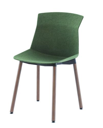 Tra le sue più recenti realizzazioni, la sedia Motek per Cassina: grazie allo stampaggio per  pressione, vengono applicate a un foglio di feltro delle pieghe, che  danno alla scocca la rigidità necessaria per sostenere pesi ma senza  perdere la leggerezza originale del materiale