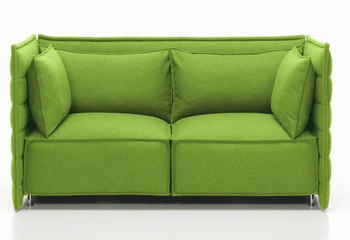 Il divano Alcove Plume  per Vitra, design fratelli Bouroullec