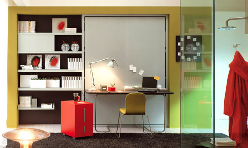 Mobili Salvaspazio Camera Da Letto : L ufficio in camera da letto con i mobili u ctrasformistiu d casa