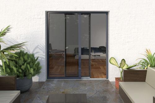 Vedo non vedo la porta invisibile casa design for Finestra esterna scorrevole