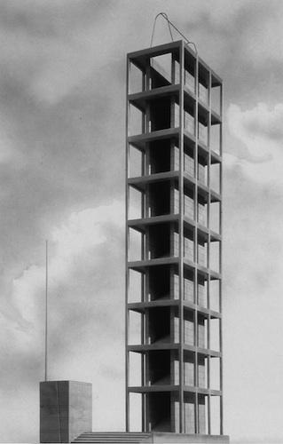 gnazio Gardella, Progetto di concorso per la Torre Littoria, 1934